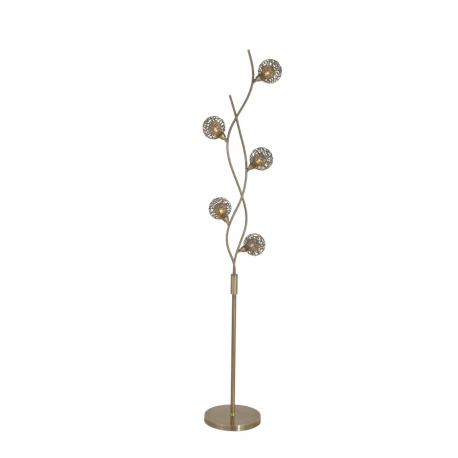Lampadaire Earth Light and Dzign métal laiton patiné 5x40w G9