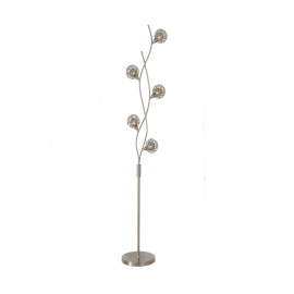 Lampadaire Earth Light and Dzign métal nickel satiné 5x40w G9