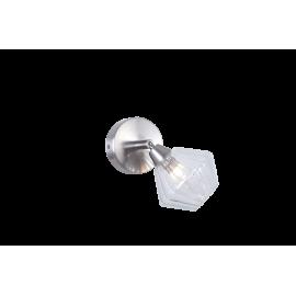 Applique Diamant Light and Dzign métal nickel satiné, verre transparent 40w G9