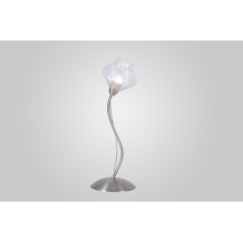 Lampe Diamant Light and Dzign métal nickel satiné, verre transparent 40w G9
