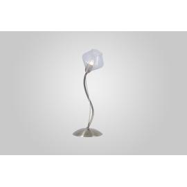 Lampe Diamant Light and Dzign métal laiton patiné, verre transparent 40w G9