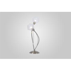 Lampe Diamant Light and Dzign métal laiton patiné, verre transparent 2x40w G9