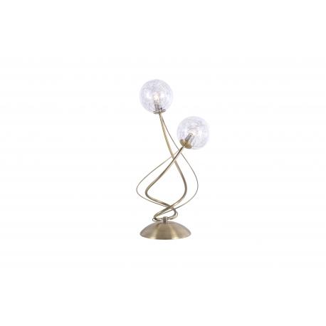 Lampe Planet Light and Dzign métal laiton patiné,verre transparent intérieur métal 2x40w G9