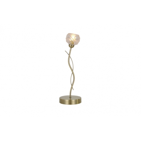 Lampe Forest Light and Dzign métal laiton patiné, verre semi transparent et semi opale 40w G9