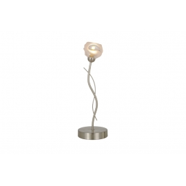 Lampe Forest Light and Dzign métal nickel satiné, verre semi transparent et semi opale 40w G9