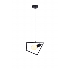 Suspension Geometrik Light and Dzign métal noir mat E14 12w