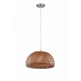 Suspension Cocoon Light and Dzign bambou brun E27 15w