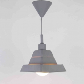 Suspension Bistrot Light and Dzign silicone á forme modifiable gris E27 60w