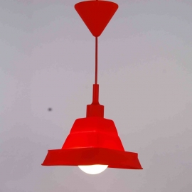 Suspension Bistrot Light and Dzign silicone á forme modifiable rouge E27 60w