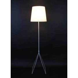 Lampadaire Tripod Light and Dzign métal blanc avec abat-jour H147 abat jour D35 60w E27