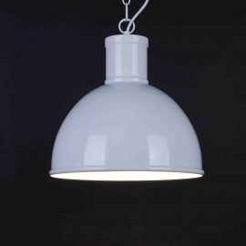 Suspension Gare Light and Dzign métal blanc E27 15w