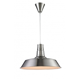 Suspension Hall Light and Dzign métal nickel satiné 15w E27