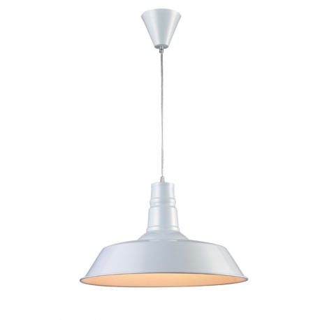 Suspension Hall Light and Dzign métal blanc 15w E27