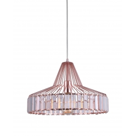 Suspension New Light and Dzign métal cuivre rosé 15w E27