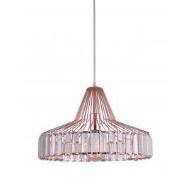 Suspension New Light and Dzign métal cuivre rosé 15w E27
