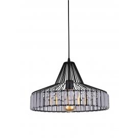 Suspension New Light and Dzign métal noir 15w E27