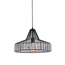 Suspension New Light and Dzign métal noir 15w E27