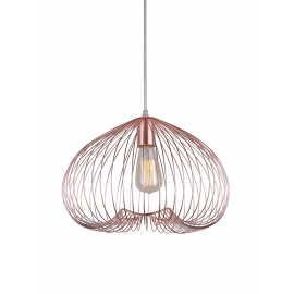 Suspension Cosmik Light and Dzign métal cuivre rose 15w E27