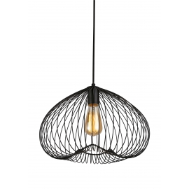 Suspension Cosmik Light and Dzign métal noir 15w E27