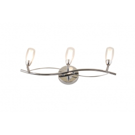 Applique Bright Light and Dzign métal chrome, double verre 3x40w G9
