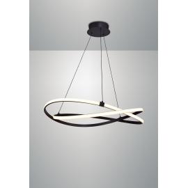 Lustre led Infinity Mantra métal marron oxydé, diffuseur acrylique 60w led 2800k 4500 lumens