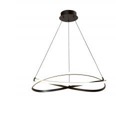 Lustre led Infinity Mantra métal marron oxydé, diffuseur acrylique 42w led 3000k 3400 lumens