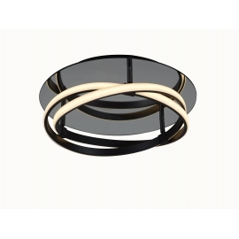 Plafonnier led Infinity Mantra métal marron oxydé, diffuseur acrylique 30w led 2800k 2500 lumens