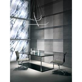 Lustre Papua Mantra métal chrome, argent, diffuseur acrylique 50w led 3000k 3900 lumens