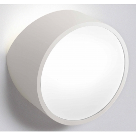 Applique Mini ronde Mantra métal blanc avec diffuseur acrylique 2x5w led G9