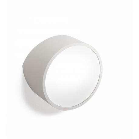 Applique Mini ronde Mantra métal argent avec diffuseur acrylique 2x5w led G9