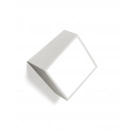 Applique Mini carrée Mantra métal argent avec diffuseur acrylique 2x5w led G9 IP44 classe 2