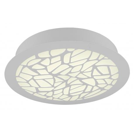 Plafonnier led Petaca Mantra métal blanc avec diffuseur acrylique 47w led 3000k 2850 lumens
