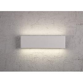 Applique led Petaca Mantra métal blanc avec diffuseur acrylique 12w led 3000k 624 lumens