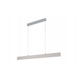 Suspension led Petaca Mantra métal blanc avec diffuseur acrylique 40w led 3000k 2080 lumens