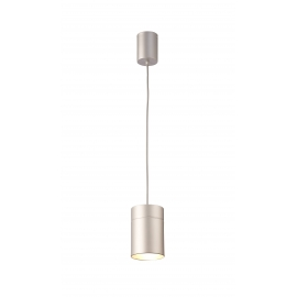 Suspension Aruba Mantra métal argent 40w E27