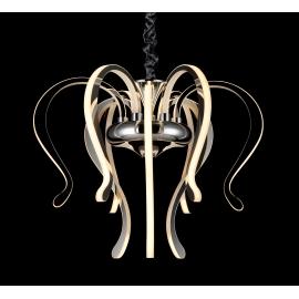 Lustre led Versailles Mantra métal chrome avec diffuseurs acryliques 106w 3000k 5075 lumens