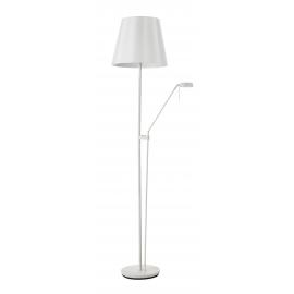 Lampadaire Palma Mdc métal blanc abat-jour blanc 2x23w E27 + 6,5w led 3000k 570 lumens