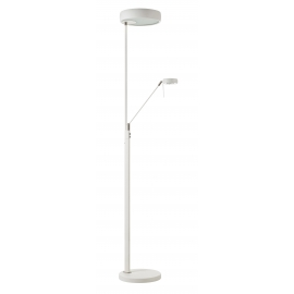 Lampadaire Go on Mdc métal blanc 2x23w E27 + 6,5W led 3000k 570 lumens