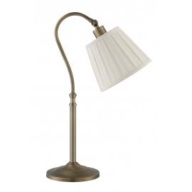 Lampadaire de lecture Alba Mdc métal bronze abat-jour tissu plissé blanc 48w E27