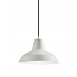 Suspension Brest Mdc métal blanc 15w E27