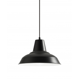 Suspension Brest Mdc métal noir mat 15w E27
