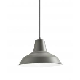 Suspension Brest Mdc métal gris mat 15w E27
