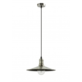 Suspension Aria Mdc métal argent antique 15w E27