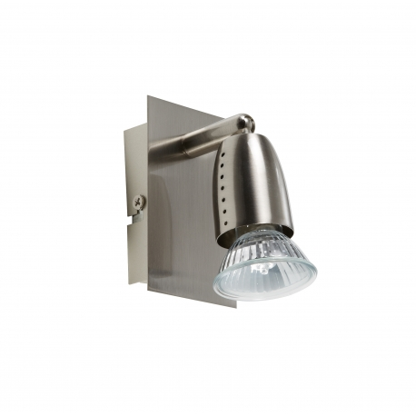 Applique spot Ecco Mdc métal chrome mat 50w GU10