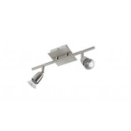 Reglette spot Ecco Mdc métal chrome mat 2x50w GU10