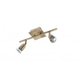 Reglette spot Ecco Mdc métal laiton patiné 2x50w GU10