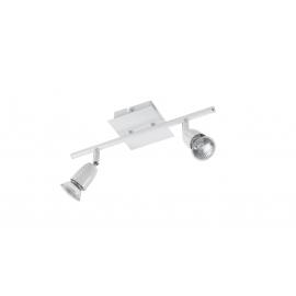 Reglette spot Ecco Mdc métal blanc 2x50w GU10