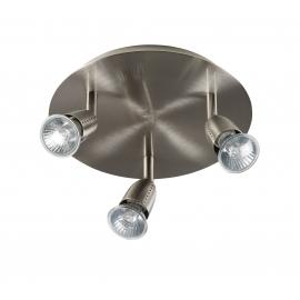 Plafonnier spot Ecco Mdc métal chrome mat 3x50w GU10