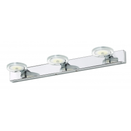 Applique led Onix Mdc métal chrome 3x6w 4000k 1950 lumens IP44 classe 2