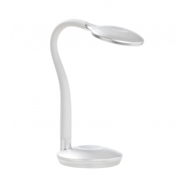 Lampe flexible touch led Cosmo Mdc métal argent 3,2w 4000k 220 lumens
